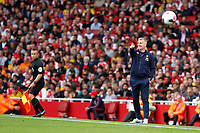 Aston Villa manager, Dean Smith during the Premier League match between Arsenal and Aston Villa at the Emirates Stadium, London, England on 22 September 2019. Photo by Carlton Myrie / PRiME Media Images.