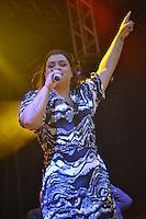 RIO DE JANEIRO, RJ, 01 DE MAIO DE 2012 - FESTA DO TRABALHADOR APOTEOSE -  A cantora Preta Gil durante comemorações do Dia do Trabalho realizado pelas centrais sindicais na Marques de Sapucai,  na regiao central do Rio de Janeiro, nesta quarta-feira, 15. (FOTO: MARCELO FONSECA / BRAZIL PHOTO PRESS).