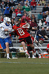 2013 March 02: Bradlee Lord #19 of the Maryland Terrapins during a game against the Duke Blue Devils at Koskinen Stadium in Durham, NC.  Maryland won 16-7.