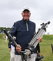 Does anybody know this fool? Cameraman Westy during Round Two of the 100th Open de France, played at Le Golf National, Guyancourt, Paris, France. 01/07/2016. Picture: David Lloyd | Golffile.<br /> <br /> All photos usage must carry mandatory copyright credit (&copy; Golffile | David Lloyd)