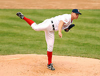 Pawtucket Red Sox' RHP Michael Bowden at McCoy Stadium,April 20, 2009 in Pawtucket, RI (Photo by Ken Babbitt/Four Seam Images)