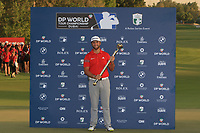 Jon Rahm (ESP) winner of the DP World Tour Championship 2017 , at Jumeirah Golf Estates, Dubai, United Arab Emirates. 19/11/2017<br /> Picture: Golffile | Thos Caffrey<br /> <br /> <br /> All photo usage must carry mandatory copyright credit     (© Golffile | Thos Caffrey)