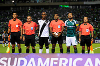 PALMIRA - COLOMBIA, 10-04-2018:Acción de juego entre los equipos Deportivo Cali de Colombia   contra Danubio de Uruguay durante partido por la Copa Conmebol Sudamericana , llave 4, jugado en el estadio Deportivo Cali de Palmaseca. / Action game between  Deportivo Cali of Colombia and Danubio of Uruguay during match for the Conmebol Sudamerica Cup played at Palmaseca stadium in Cali.  Photo: VizzorImage / Nelson Rios / Contribuidor