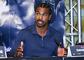 4th October 2017, Park Plaza, London, England; Tony Bellew versus David Haye, The Rematch, Press Conference; David Haye explaining to the media how he will defeat Tony Bellew during the press conference