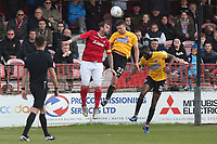 Danny Kedwell of Ebbsfleet and Doug Loft of Dagenham and Redbridge during Ebbsfleet United vs Dagenham & Redbridge, Vanarama National League Football at The Kuflink Stadium on 13th April 2019
