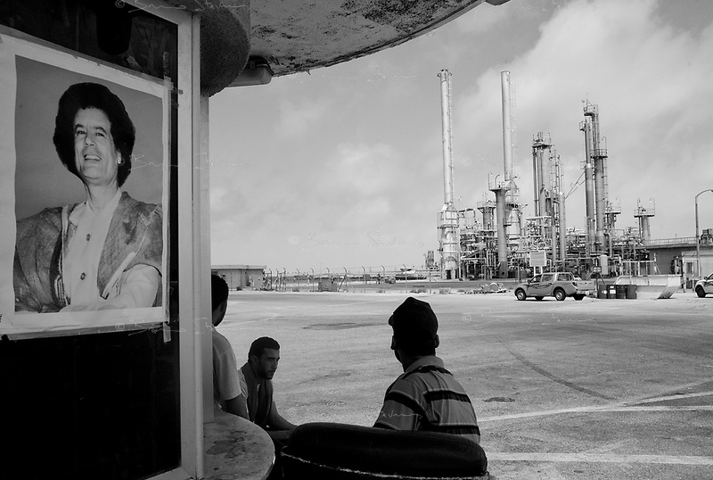 Brega, Libya, June 27, 2011..Picture taken during a government organized trip. NATO raids have repeatedly hit several buildings within the Brega oil terminal and refinery, despite declarations by local workers insisting they were strictly civilian; however evidence of at least some military presence could be seen in various locations.
