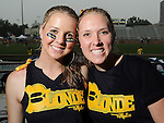 Jamie Honeycutt and Maggi Dunwoody at the 5th Annual Blondes vs Brunettes Powder Puff Football Game at St. John's School Saturday May 15,2010.  (Dave Rossman Photo)