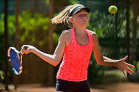 Netherlands, Dordrecht, August 03, 2015, Tennis,  National Junior Championships, NJK, TV Dash 35, Eloise de Mooij<br /> Photo: Tennisimages/Henk Koster