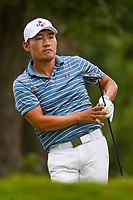 Sung Kang (USA) watches his tee shot on 6 during Rd3 of the 2019 BMW Championship, Medinah Golf Club, Chicago, Illinois, USA. 8/17/2019.<br /> Picture Ken Murray / Golffile.ie<br /> <br /> All photo usage must carry mandatory copyright credit (© Golffile   Ken Murray)