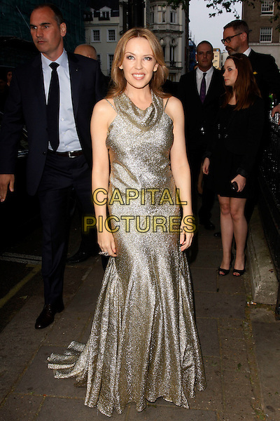 Kylie Minogue.Arrivals at the Glamour Women Of The Year Awards, Berkeley Square Gardens, London, England..May 29th, 2012.full length gold sparkly dress sleeveless    .CAP/AH.©Adam Houghton/Capital Pictures.