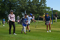 Maria Fassi (MEX) and Brooke M. Henderson (CAN) head down 12 during the round 3 of the KPMG Women's PGA Championship, Hazeltine National, Chaska, Minnesota, USA. 6/22/2019.<br /> Picture: Golffile | Ken Murray<br /> <br /> <br /> All photo usage must carry mandatory copyright credit (© Golffile | Ken Murray)