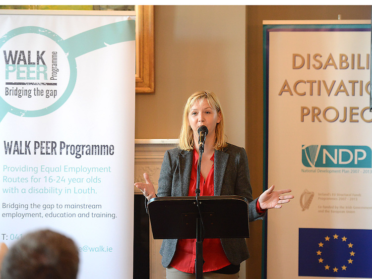 Catherine Kelly Director of Services for WALK speaking at the launch of the Walk Peer Programme in Bellingham Castle hotel. Photo:Colin Bell/pressphotos.ie
