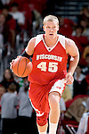 MADISON, WI - OCTOBER 24: Forward Joe Krabbenhoft #45 of the Wisconsin Badgers handles the ball during the red/white scrimmage at the Kohl Center on October 24, 2006 in Madison, Wisconsin. The White team defeated the Red team 72-69. (Photo by David Stluka)