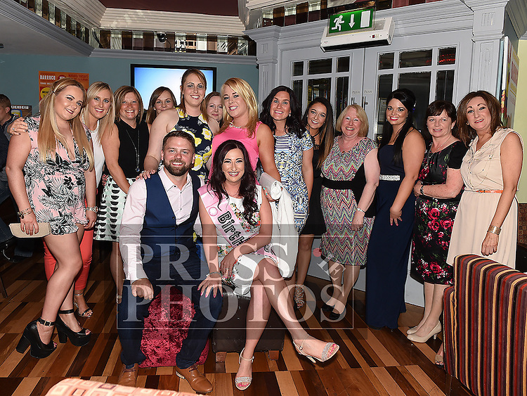 Karen Devitt celebrating her 30th birthday and recent engagement with Paul Heatherington and her friends in Barocco in the Westcourt hotel. Photo:Colin Bell/pressphotos.ie