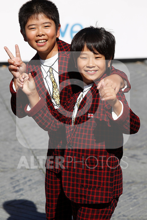 Actors Oshiro Maeda (l) and his brother Koki Maeda (r) after the screening of their film 'Kiseki' (I Wish) during the 59th San Sebastian Donostia International Film Festival - Zinemaldia.September 20,2011.(ALTERPHOTOS/ALFAQUI/Acero)