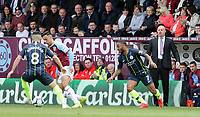 Burnley manager Sean Dyche looks on as Dwight McNeil battles with Manchester City's Ilkay Gundogan<br /> <br /> Photographer Rich Linley/CameraSport<br /> <br /> The Premier League - Burnley v Manchester City - Sunday 28th April 2019 - Turf Moor - Burnley<br /> <br /> World Copyright © 2019 CameraSport. All rights reserved. 43 Linden Ave. Countesthorpe. Leicester. England. LE8 5PG - Tel: +44 (0) 116 277 4147 - admin@camerasport.com - www.camerasport.com