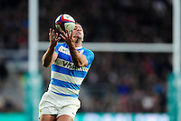Santiago Cordero of Argentina claims the ball. Old Mutual Wealth Series International match between England and Argentina on November 26, 2016 at Twickenham Stadium in London, England. Photo by: Patrick Khachfe / Onside Images