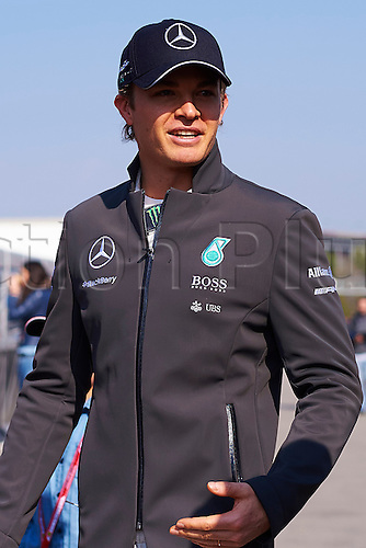 20.02.2015. Barcelona, Spain.  Nico Rosberg (Mercedes Petronas)  in the paddock, during day two of Formula One Winter Testing at Circuit de Catalunya (Barcelona)