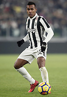 Calcio, Serie A: Juventus - AS Roma, Torino, Allianz Stadium, 23 dicembre, 2017. <br /> Juventus' Alex Sandro in action during the Italian Serie A football match between Juventus and Roma at Torino's Allianz stadium, December 23, 2017.<br /> UPDATE IMAGES PRESS/Isabella Bonotto