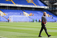 Bournemouth manager Eddie Howe takes a walk on the pitch ahead of the Premier League match between Tottenham Hotspur and Bournemouth at White Hart Lane, London, England on 15 April 2017. Photo by Mark  Hawkins / PRiME Media Images.