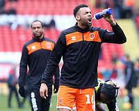 Blackpool's Curtis Tilt during the pre-match warm-up <br /> <br /> Photographer David Shipman/CameraSport<br /> <br /> The EFL Sky Bet League One - Charlton Athletic v Blackpool - Saturday 16th February 2019 - The Valley - London<br /> <br /> World Copyright © 2019 CameraSport. All rights reserved. 43 Linden Ave. Countesthorpe. Leicester. England. LE8 5PG - Tel: +44 (0) 116 277 4147 - admin@camerasport.com - www.camerasport.com