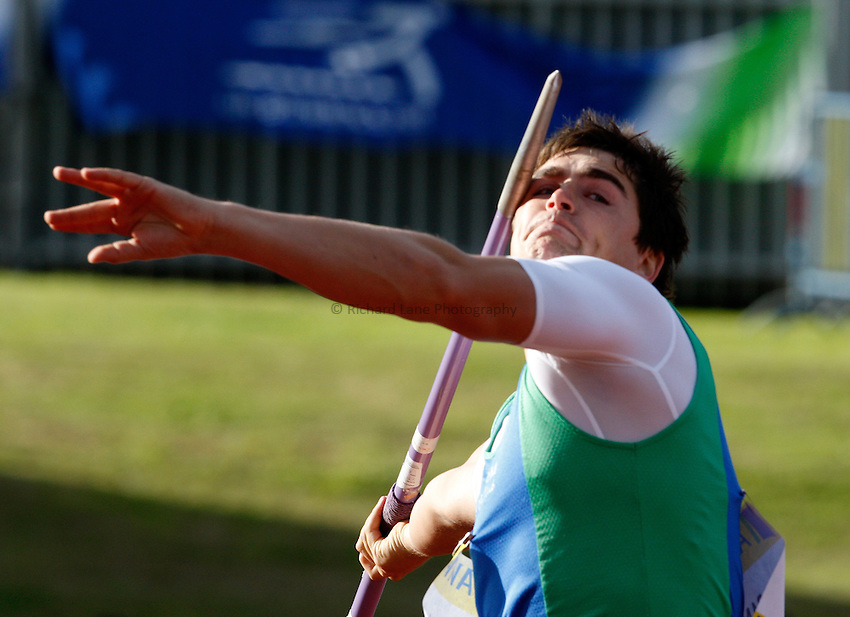 Photo: Richard Lane/Richard Lane Photography. Aviva National Championships, Incorporating the Team GB Selection Trials, Birmingham. 12/07/2008. Lee Doran in the men's javelin.