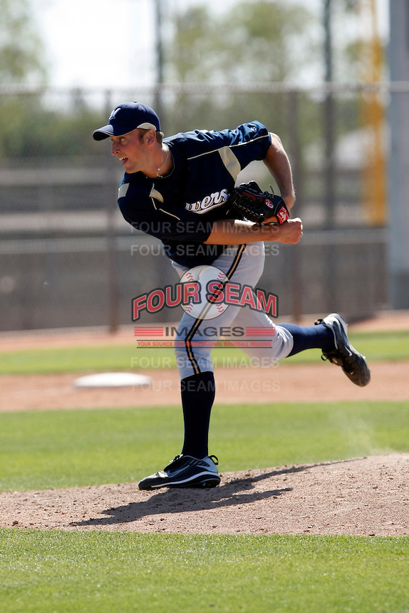 Jim Henderson - Milwaukee Brewers - 2009 spring training.Photo by:  Bill Mitchell/Four Seam Images