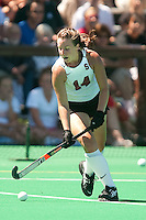 STANFORD, CA - SEPTEMBER 6: Heather Alcorn plays against Michigan State on September 6, 2010 in Stanford, California.