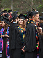 Dana Tremallo. Occidental College's Commencement for the class of 2015 at the Remsen Bird Hillside Theater, Sunday, May 17, 2015.<br />