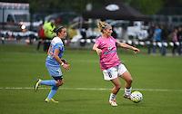 Kansas City, MO - Friday May 13, 2016: FC Kansas City midfielder Jen Buczkowski (6) against Chicago Red Stars midfielder Amanda Da Costa (13) during a regular season National Women's Soccer League (NWSL) match at Swope Soccer Village. The match ended 0-0.