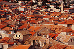 Dubrovnik, Croatia, Fabled clay tiled roofs, Dalmatia, Europe, Dalmatian Coast, Adriatic Sea,