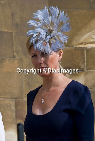"""SOPHIE, COUNTESS OF WESSEX_it appears that with Britain experiencing a hot spell, Sophie has been catching up on her tan before the Royal Wedding. However, her choice did not cover  she her tan marks around the top of her breasts, when she attended Easter Service at St. George's Chapel, Windsor Castle, Windsor_24/04/2011.Mandatory Photo Credit: ©Dias/DIASIMAGES..**ALL FEES PAYABLE TO: """"NEWSPIX INTERNATIONAL""""** ..PHOTO CREDIT MANDATORY!!: DIASIMAGES(Failure to credit will incur a surcharge of 100% of reproduction fees)..IMMEDIATE CONFIRMATION OF USAGE REQUIRED:.DiasImages, 31a Chinnery Hill, Bishop's Stortford, ENGLAND CM23 3PS.Tel:+441279 324672  ; Fax: +441279656877.Mobile:  0777568 1153.e-mail: info@diasimages.com"""