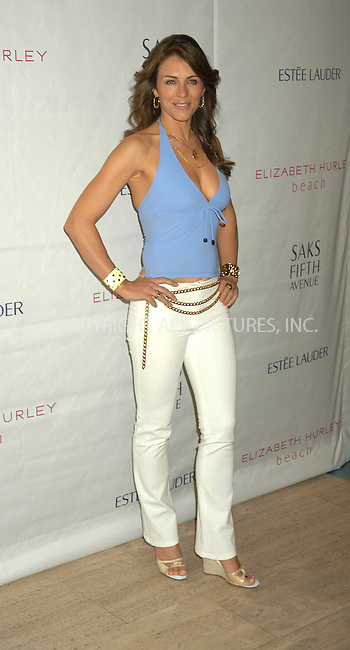 WWW.ACEPIXS.COM . . . . . ....NEW YORK, APRIL 21, 2005....Elizabeth Hurley launches Elizabeth Hurley Beach, a collection of designer swimsuits and tunics, exclusively at Saks Fifth Avenue.....Please byline: KRISTIN CALLAHAN - ACE PICTURES.. . . . . . ..Ace Pictures, Inc:  ..Craig Ashby (212) 243-8787..e-mail: picturedesk@acepixs.com..web: http://www.acepixs.com
