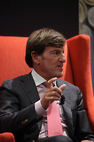 Montreal (Qc) CANADA - June 4 2013 - Stephen R. Bronfman, Executive Chairman - Claridge Inc speak at the Canadian Club  PANEL &quot;Leadership challenges in family businesses&quot; featuring<br /> Andrew Molson, Vice-Chairman of the Board - Molson Coors Brewing Company<br /> Chairman - RES PUBLICA Consulting Group (L),  Alain <br /> Lemaire<br /> Executive Chairman of the Board - Cascades Inc.  (M) and Stephen R. Bronfman, Executive Chairman - Claridge Inc (R)<br /> <br /> PHOTO :  Agence Quebec Presse