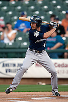 New Orleans Zephyrs outfielder Kevin Mattison #4 at bat during the Pacific Coast League baseball game against the Round Rock Express on April 30, 2012 at The Dell Diamond in Round Rock, Texas. The Zephyrs defeated the Express 5-3. (Andrew Woolley / Four Seam Images)