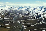 AK: Alaska Denali National Park, Fly In Aerials near Mt. McKinley .Photo Copyright: Lee Foster, lee@fostertravel.com, www.fostertravel.com, (510) 549-2202.Image: akdena205