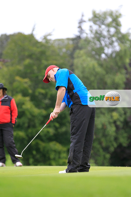 Ronan Maher (Mullingar) on the 2nd during round 1 of The Mullingar Scratch Cup in Mullingar Golf Club on Sunday 3rd August 2014.<br /> Picture:  Thos Caffrey / www.golffile.ie