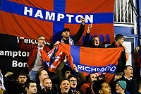 Hampton fans during Hampton & Richmond Borough vs Oldham Athletic, Emirates FA Cup Football at the Beveree Stadium on 12th November 2018