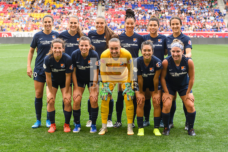 HARRISON, NJ - Sunday, August 18, 2019: Sky Blue FC takes on Reign FC during the NWSL regular season at Red Bull Arena in Harrison, NJ.