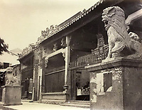 BNPS.co.uk (01202 558833)<br /> Pic: DominicWinterAuction/BNPS<br /> <br /> 'Joss House' on Hong Kong island.<br /> <br /> Revealed - A fascinating photo album from the very early days of British Hong Kong...long before the skyscrapers covered it over.<br /> <br /> The 150 year old photos of Hong Kong taken by one of the first British photographers to venture to the Far East have emerged for sale for £15,000.<br /> <br /> John Thomson, who was also a geographer, left Edinburgh for Singapore in 1862 and spent the following decade travelling the region.<br /> <br /> He explored a decidely low-rise Hong Kong from 1868 to 1870, taking numerous pictures of the rapidly expanding settlement and its industrious inhabitants.<br /> <br /> They capture the area, which is currently engulfed in unrest and protest, at a far more tranquil time.<br /> <br /> The photos are being sold with auction house Dominic Winter, of Cirencester, Gloucs.