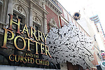"""""""Harry Potter and the Cursed Child"""" Theatre Marquee Installation on February 14, 2018 at the Lyric Theatre in New York City."""