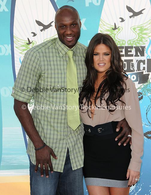 Lamar Odom & Khloe Kardashian at Fox Teen Choice 2010 Awards held at he Universal Ampitheatre in Universal City, California on August 08,2010                                                                                      Copyright 2010 © DVS / RockinExposures