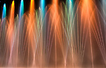 Colorful, computer-controlled fountain display