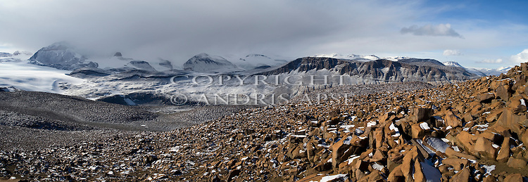 From Pandora Spire. Taylor Valley. The Dry Valleys. Antarctica.