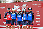 Team Veloconcept Women at sign on before the start of the Ladies 2017 Strade Bianche running 127km from Siena to Siena, Tuscany, Italy 4th March 2017.<br /> Picture: Eoin Clarke   Newsfile<br /> <br /> <br /> All photos usage must carry mandatory copyright credit (&copy; Newsfile   Eoin Clarke)