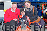 MINI TRACTOR:Robert O'Sullivan under supervision given the mini tractor a spin at the Kingdom County Fair,at Ballybeggan Racourse, on Sunday l-r: Liam,Robert and Fiona O'Sullivan (Listowel).