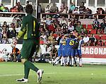 2011 Final Copa Catalunya. EL RCD Espanyol s'imposa a un jove FC Barcelona . El jove devanter del Rcd Espanyol , Thievy, fa els tres gols