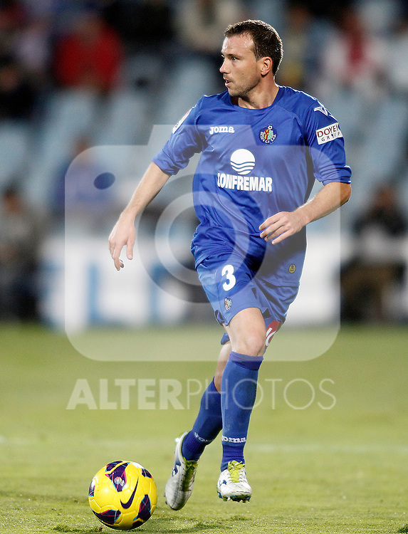 Getafe's Mane Jimenez during La Liga match.November 18,2012. (ALTERPHOTOS/Acero)