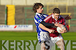 Aidan O'Sullivan Dromid Pearses v Eoin Rea Derrytresk in the AIB All Ireland Junior Club Championship Semi Final at Portlaoise on Sunday