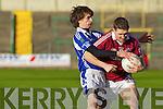 Aidan O'Sullivan Dromid Pearses v Eoin Rea Derrytresk in the AIB All Ireland Junior Club Championship Semi Final at Portlaoise on Sunday